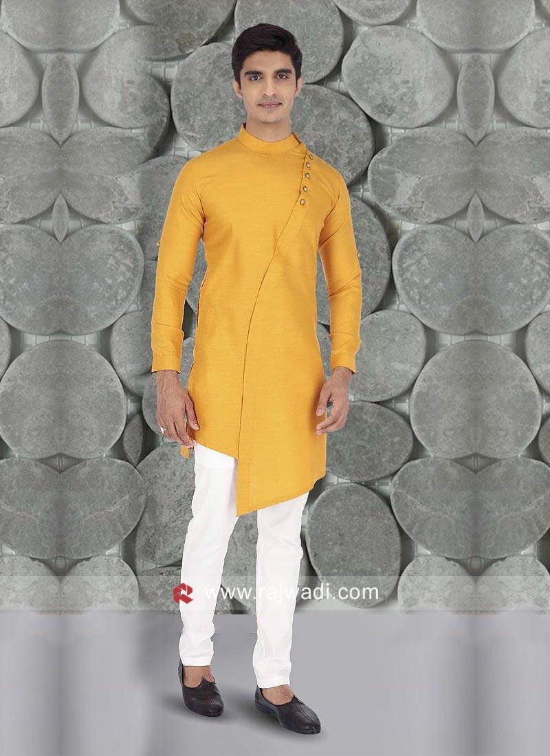 Mustard Yellow Color Kurta Set For Wedding