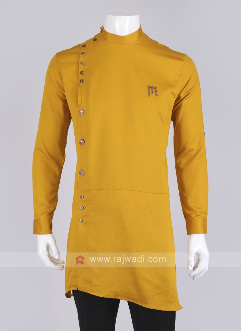 Yellow Color Men's Kurta