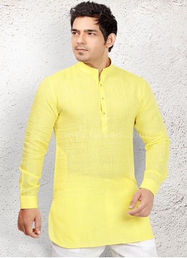 Yellow coloured Party wear Kurta