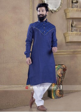 Navy Color Pathani Suit