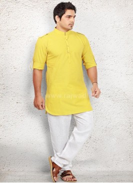 Yellow coloured Pathani Suit