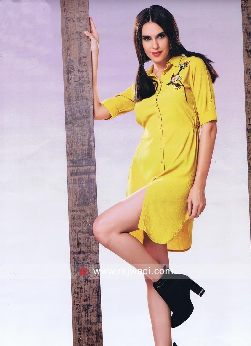 Yellow Crepe Tunic