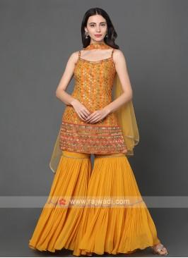 Yellow Gharara Suit