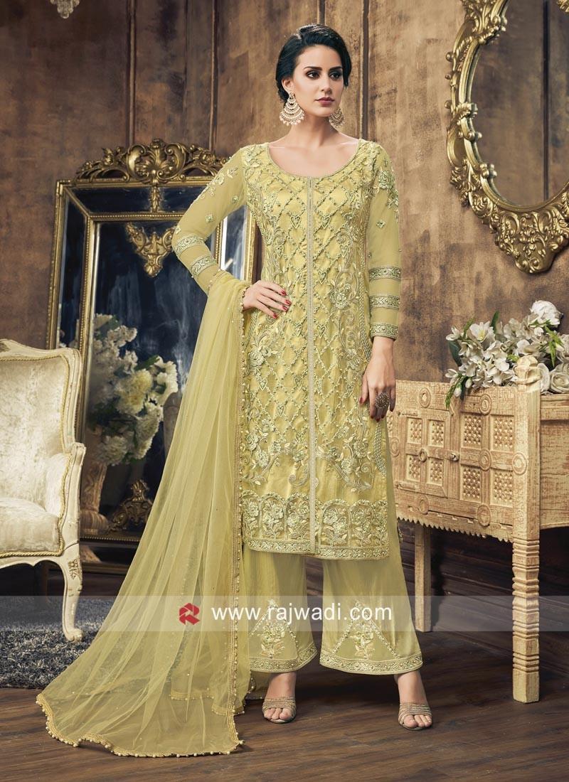 Yellow Heavy Emroidery Salwar Suit