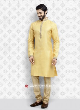 Yellow Kurta Pajama For Mens