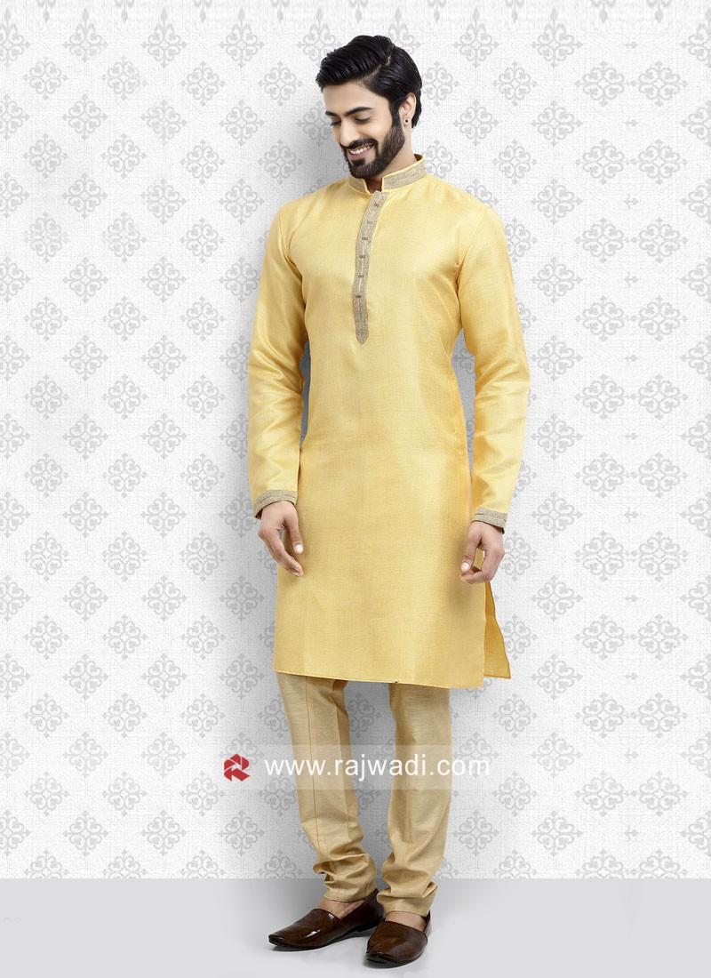 Yellow Kurta Pajama For Mens