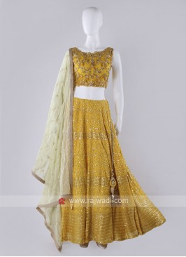 Yellow Lehenga Choli Suit
