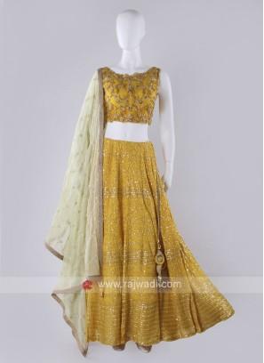 Yellow Lehenga Choli Suit