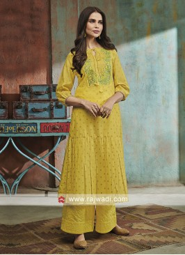 Yellow Palazzo Suit with Dupatta