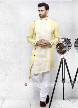 Yellow Pathani Set For Party