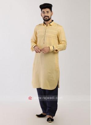 Yellow Pathani Suit