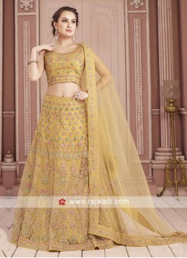 Yellow Readymade Choli Suit For Wedding