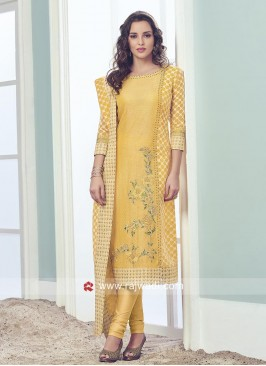 Yellow Salwar Suit with Dupatta