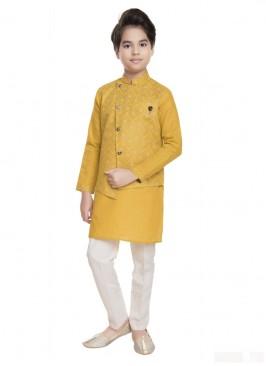 Yellow Wedding Nehru Jacket