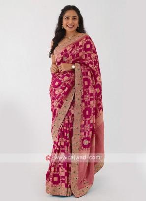 Zardosi Work Banarasi Silk Saree