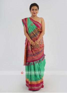 Zardosi Work Silk Saree