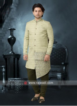 Layered Liril Green Indo Western