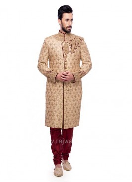 Zardozi and Diamond Work Sherwani