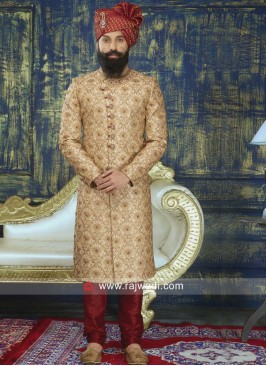Zardozi and Pearl Work Sherwani