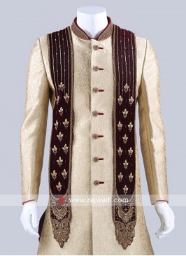Zardozi and Stone Work Mens Dupatta