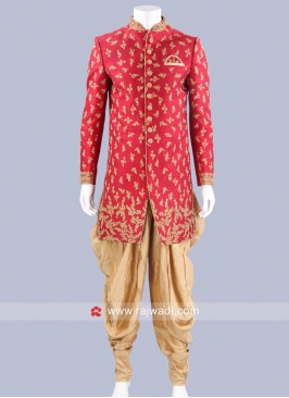 Zardozi and Zari Work Indo Western Sherwani