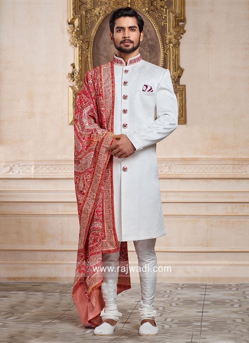 Charming White Indo Western For Wedding