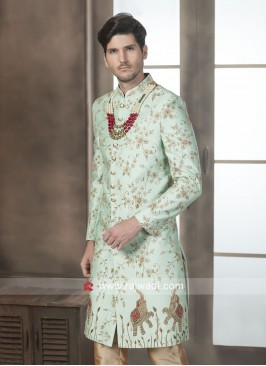 Zari and Cutdana Work Wedding Sherwani