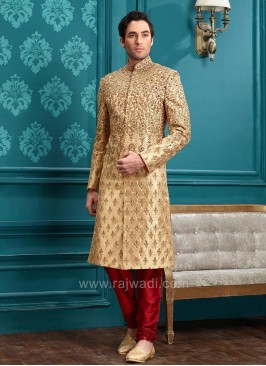 Zari and Pearl Work Silk Indo Western