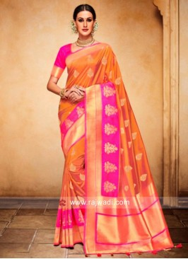 Zari and Resham Weaved Saree
