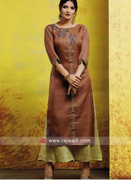 Zari and Resham Work Kurti