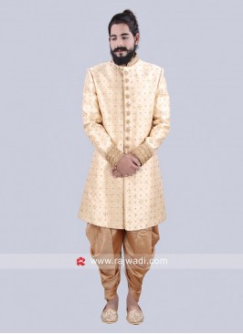 Zari and Stone Work Indo Western Sherwani