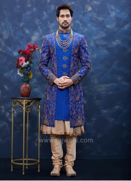 Zari and Stone Work Sherwani