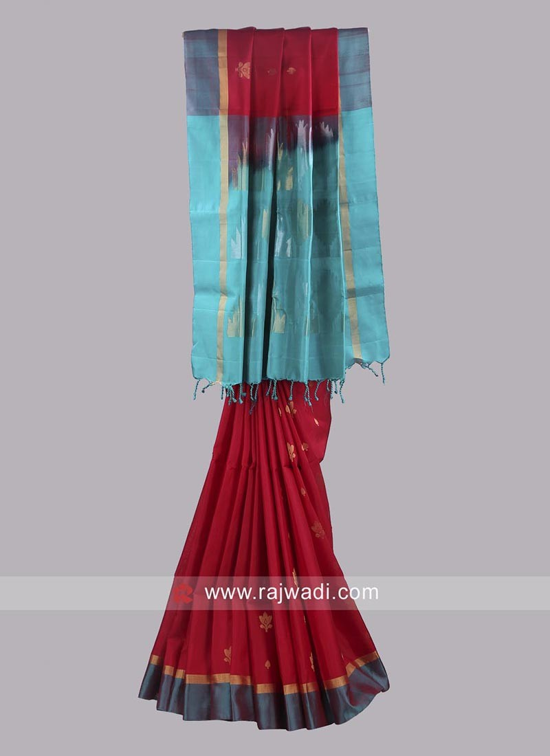 Zari Embroidered Reception Saree