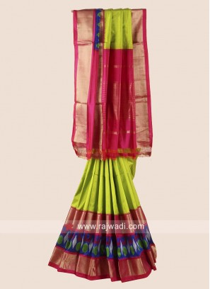 Zari Weaved Classic Patola Saree