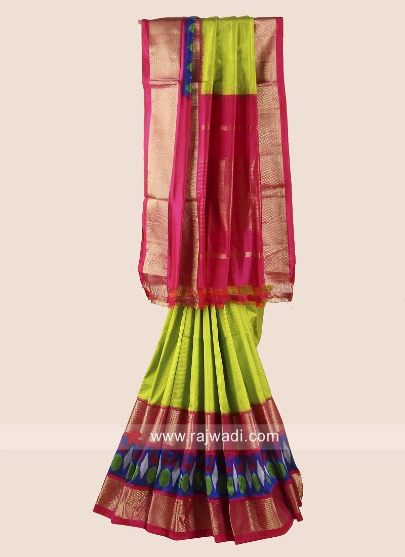 Zari Weaved Classic Patola Saree
