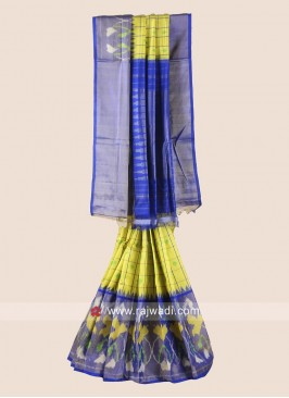 Zari Weaved Classic Pure Silk Checks Saree