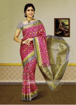 Zari Weaved Designer Saree