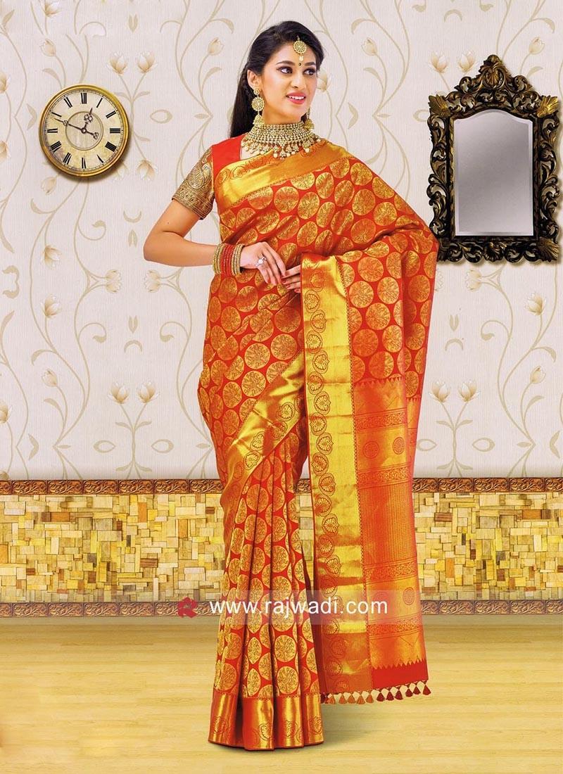 Zari Weaved Designer Saree