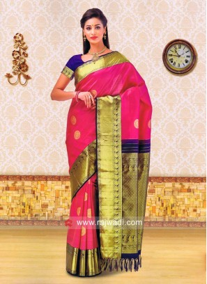 Zari Weaved Kancheepuram Silk Saree
