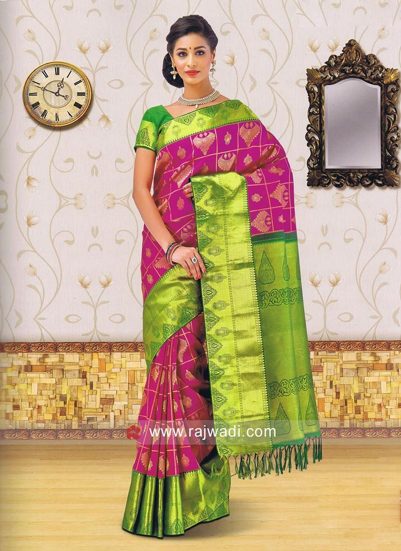 Zari Weaved Kancheepuram Silk Saree