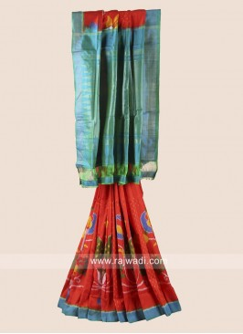 Zari Weaved Patola Saree with Blouse