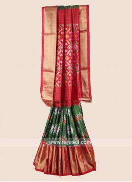 Zari Weaved Pure Silk Patola Saree