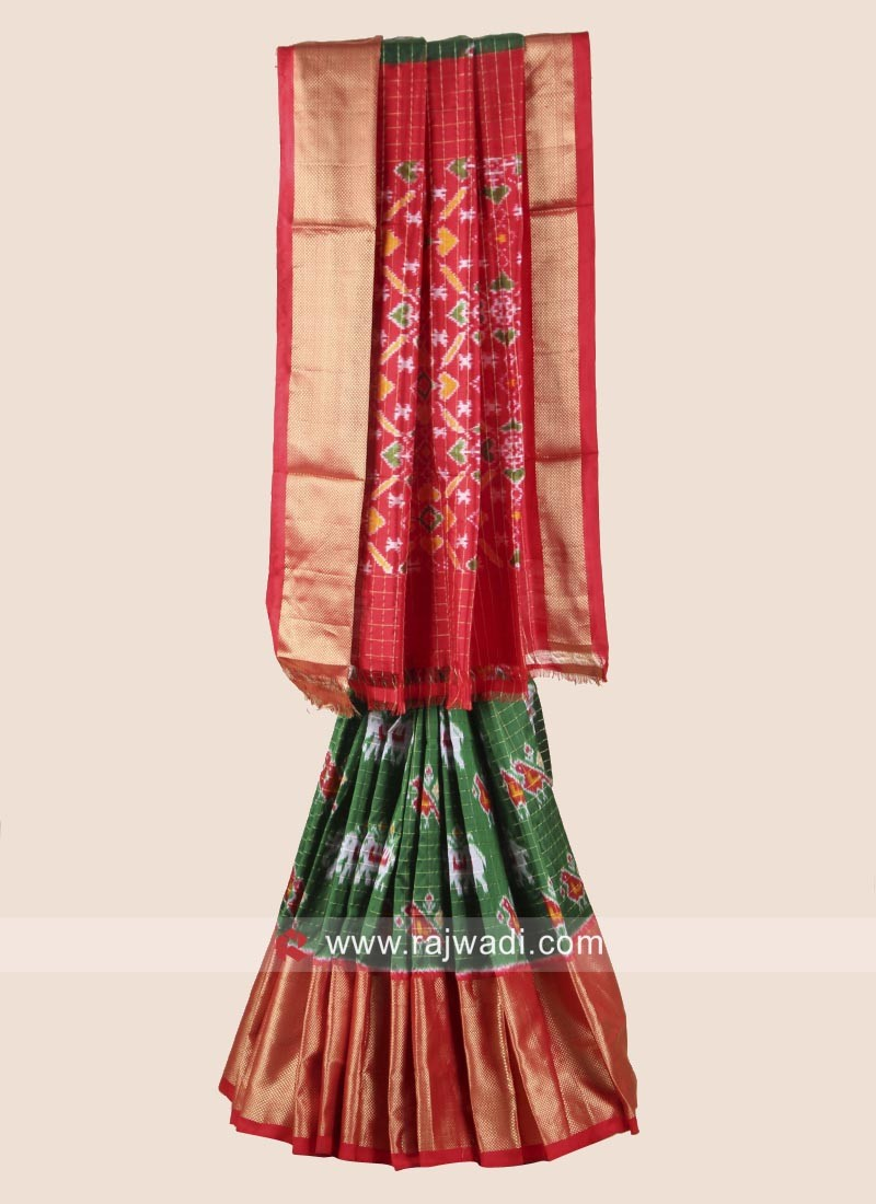 Zari Weaved Pure Silk Patola Saree