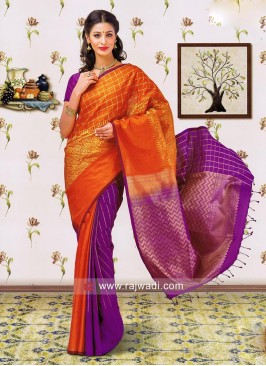 Zari Weaved Saree