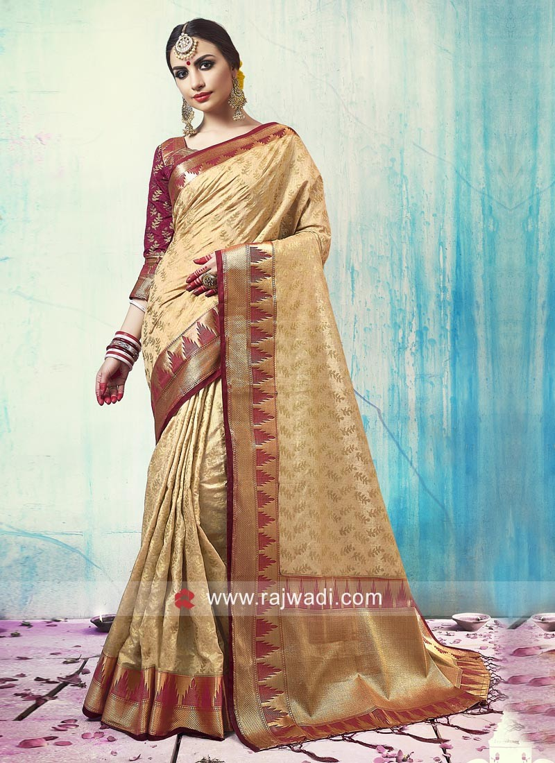 Zari Weaved Silk Saree