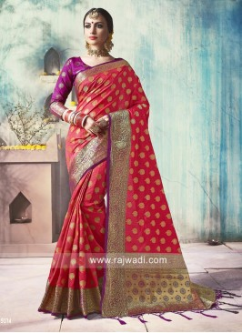 Zari Weaved Silk Wedding Saree