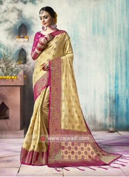 Zari Weaved Wedding Saree
