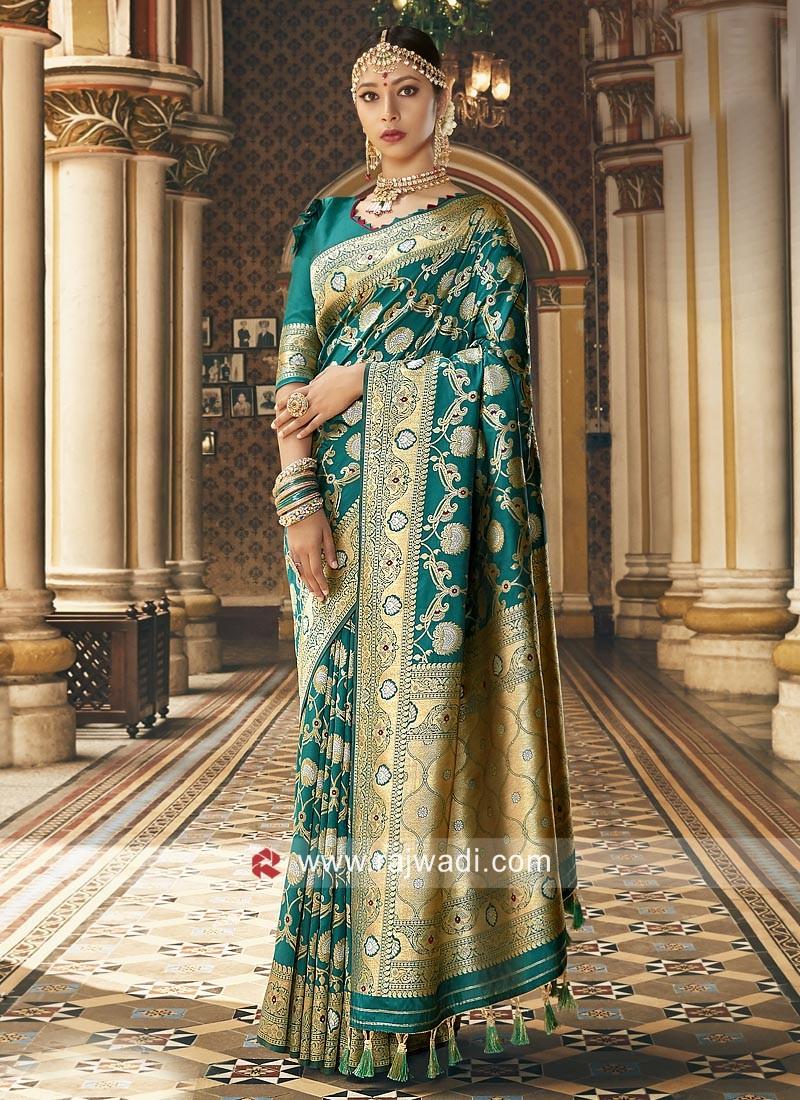 Zari Weaving Art Silk Saree