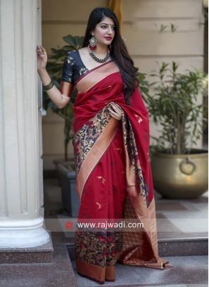 Zari Weaving Banarasi Silk Saree