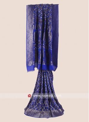 Zari Weaving Bandhani Saree
